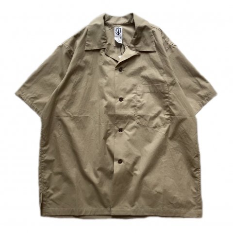 CORONA / FRENCH CAFE SHIRT SS - typewriter cloth sand beige