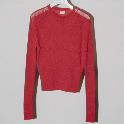 MAISON EUREKA / RIB HIGH NECK SUMMER SWEATER - red