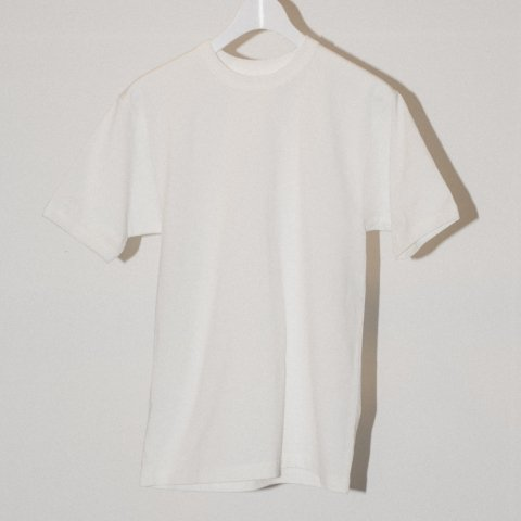 MAISON EUREKA / GIZA COTTON HEAVY WEIGHT S/S TEE - white