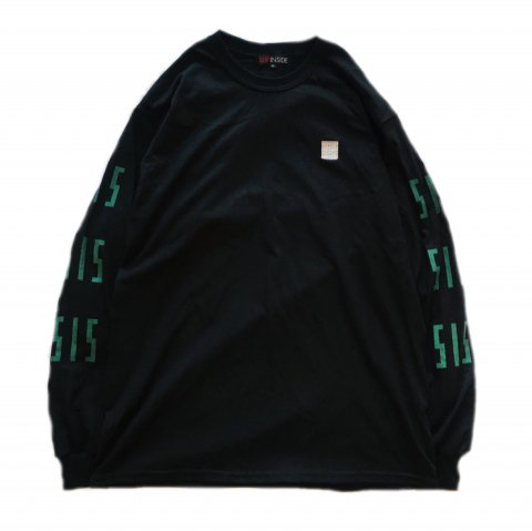<img class='new_mark_img1' src='//img.shop-pro.jp/img/new/icons3.gif' style='border:none;display:inline;margin:0px;padding:0px;width:auto;' />  SLIP INSIDE / SIS Long Sleeve Tee - black×green