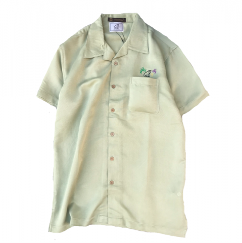 shirokuma / shirokuma Tropical SS Shirt - green mist