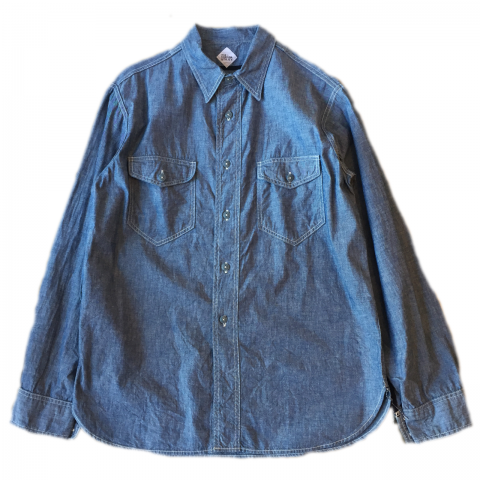 CORONA / NAVY 2POCKET SHIRT - blue w/ natural st