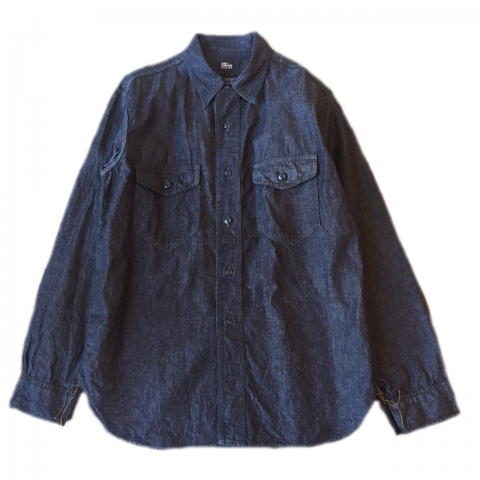 CORONA / NAVY 2POCKET SHIRT - indigo