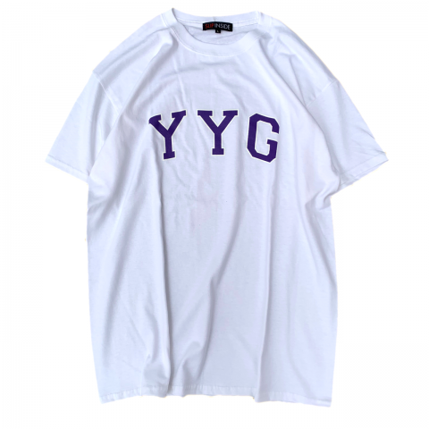 <img class='new_mark_img1' src='//img.shop-pro.jp/img/new/icons3.gif' style='border:none;display:inline;margin:0px;padding:0px;width:auto;' />  SLIP INSIDE / YYG Tee - white × violet