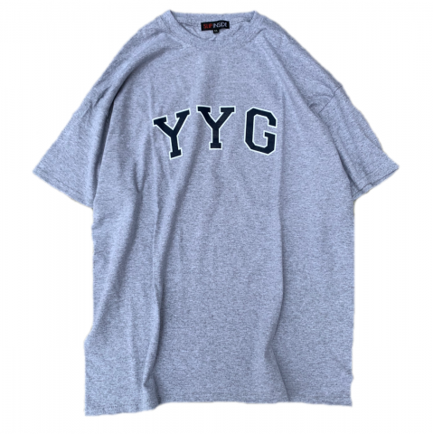 <img class='new_mark_img1' src='//img.shop-pro.jp/img/new/icons3.gif' style='border:none;display:inline;margin:0px;padding:0px;width:auto;' />  SLIP INSIDE / YYG Tee - ash gray × navy