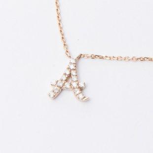 amulette de Dahlia イニシャルネックレス A
