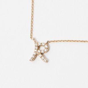 amulette de Dahlia イニシャルネックレス R