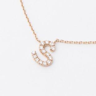 amulette de Dahlia イニシャルネックレス S