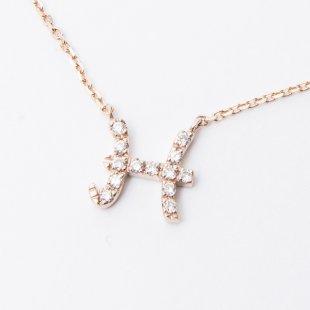 amulette de Dahlia イニシャルネックレス H