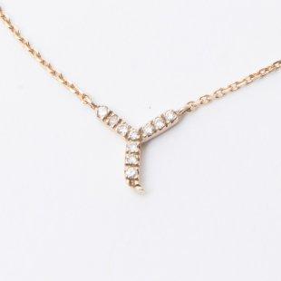 amulette de Dahlia イニシャルネックレス Y