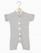 House of Jamie(ハウスオブジェイミー) Summer Button Suit - Little Stripes  サイズ3-6M/6-12M