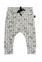 HUXBABY(ハックスベイビー) animals drop crotch pant- Grey サイズ6-12m/1Y/2Y/3Y/4Y
