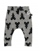 HUXBABY(ハックスベイビー) mouse charcoal drop crotch pant- Charcoal サイズ6-12m/1Y/2Y/3Y/4Y