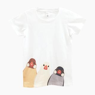 Tシャツ(SMILE BIRD  / 文鳥)