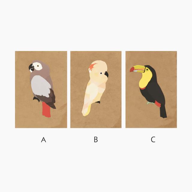 鳥デザインステッカー(LARGE BIRD) 商品の様子