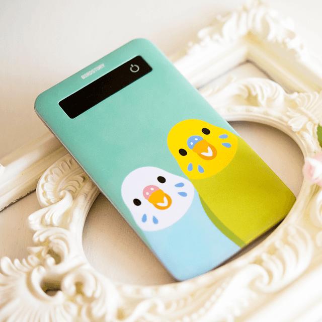 SMILE BIRD モバイルバッテリー(セキセイインコ) 商品の様子