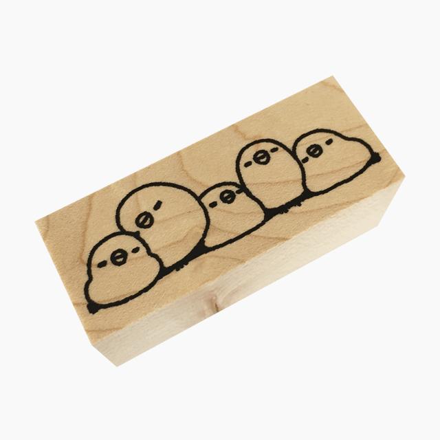 chitch スタンプ(すやすや文鳥 マステ風)