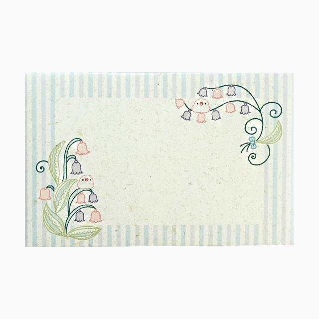 chitch 和紙風ミニレターセット(文鳥とスズラン) 商品の様子
