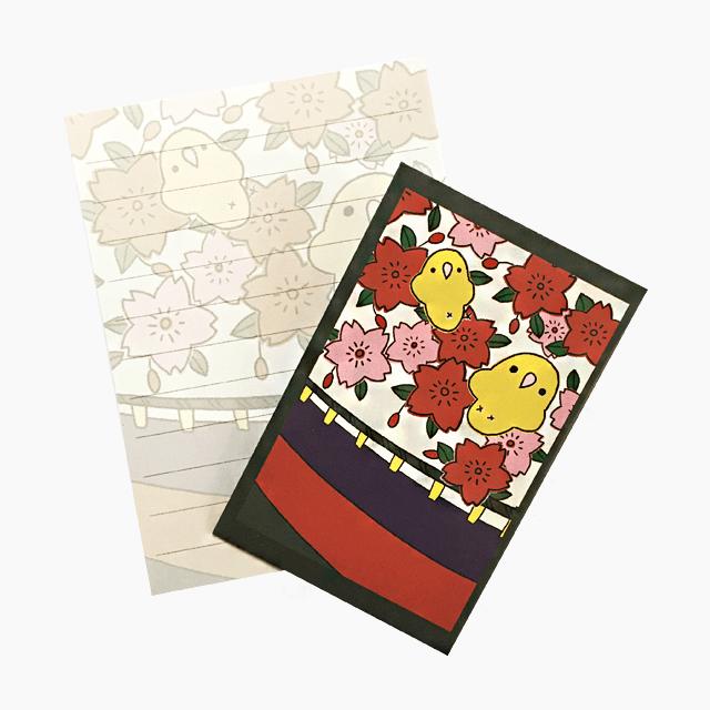 chitch ミニレターセット(花札・桜)