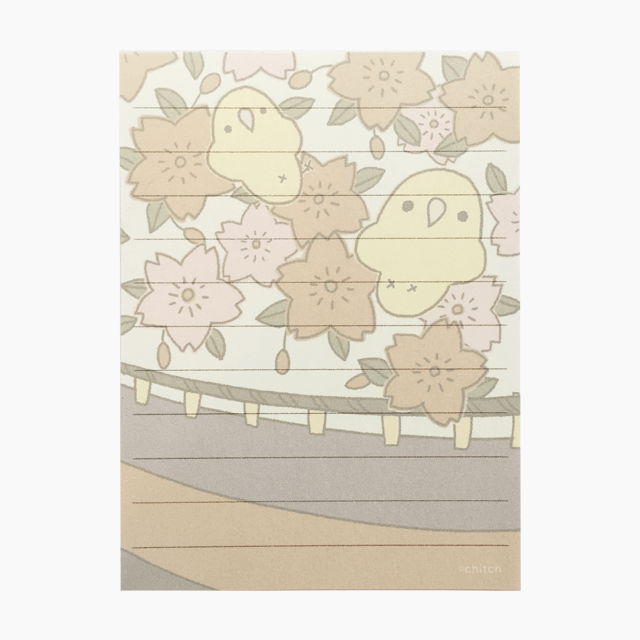 chitch ミニレターセット(花札・桜) 商品の様子