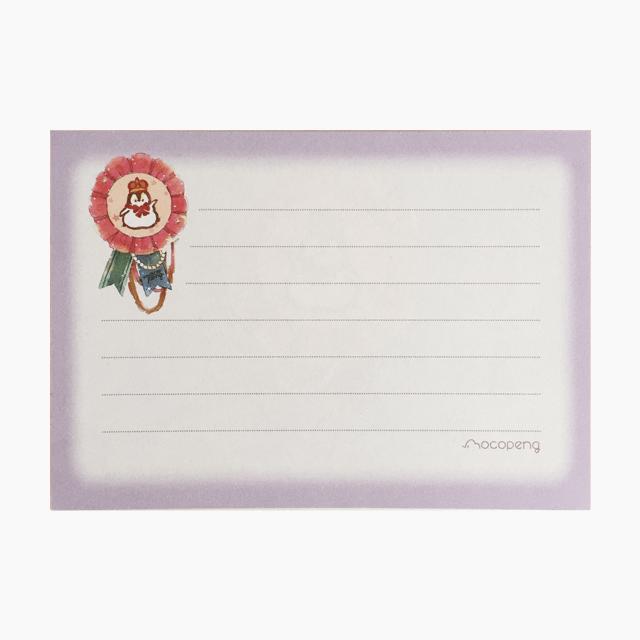 もこぺんメモ帳(王冠・パープル) 商品の様子
