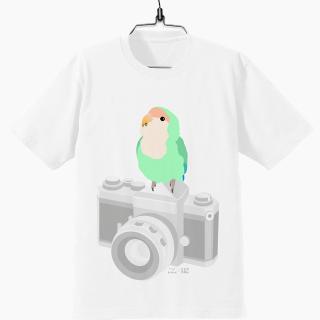 インコのおとちゃん×ことりちゃん コザクラインコ Tシャツ