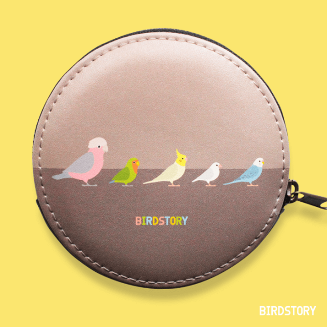 BIRD!BIRD!BIRD! コインケース(ホワイト) 商品の様子