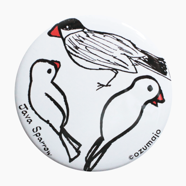Java Sparrow 缶バッジ