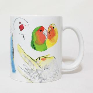 マグカップ(オクムラミチヨ / いろいろインコとオウムとフィンチ / B)