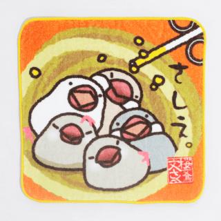 文鳥ミニタオル(さしえ)