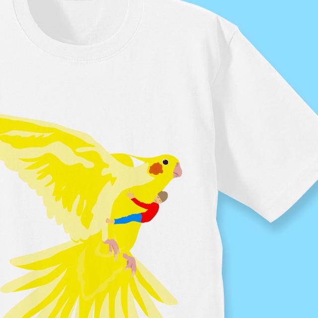いっしょに飛ぼう!羽ばたくオカメインコ Tシャツ 商品の様子