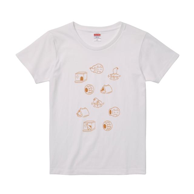 Tシャツ(巣 / ホワイト / レディース)