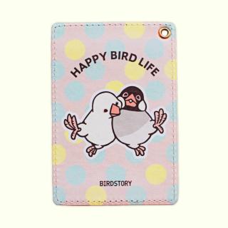 パスケース(HAPPY BIRD LIFE / 文鳥)