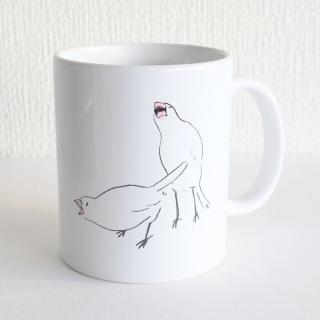 TONPESO マグカップ(エビvs文鳥)