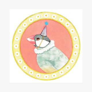 文鳥院まめぞう イラストカード(ある日みた夢)