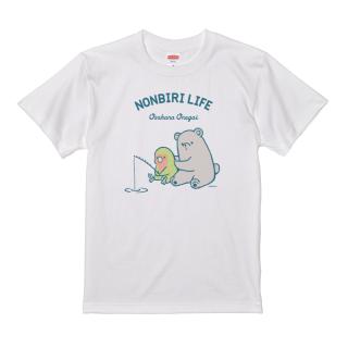 Tシャツ(NONBIRI LIFE / おさかなおねがい / コザクラインコ)