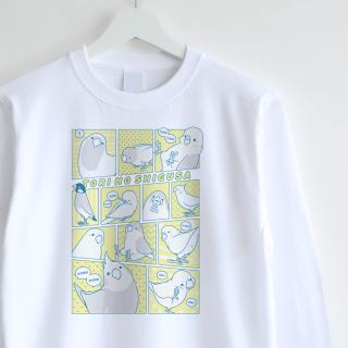 長袖Tシャツ(TORI NO SHIGUSA / コミック / イエロー×ブルー)