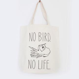 小鳥のいない人生なんて!トートバッグM