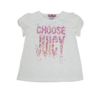JUICY CUTURE ラメロゴ半袖Tシャツ