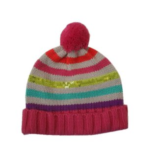 ジンボリーカラフルボーダーニット帽
