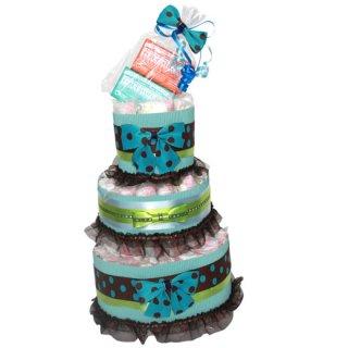 オーガニック石鹸付きオムツケーキ(ブルー)