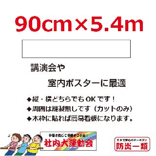講演会等用幕・ポスター等0.9m×5.4m