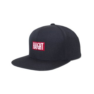 HAIGHT BOX LOGO SNAP BACK CAP BLACK