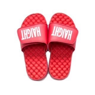 HAIGHT LOGO SHOWER SANDAL RED