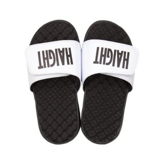 HAIGHT / Logo Shower Sandal - White
