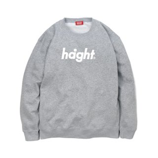 HAIGHT Round Logo Crew Sweat Grey