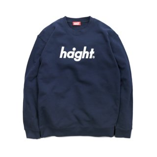 HAIGHT Round Logo Crew Sweat Navy