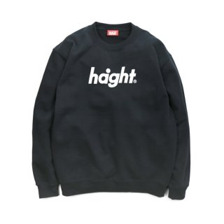 HAIGHT / Round Logo Crew Sweat - Black