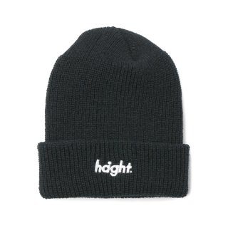 HAIGHT Round Logo Knit Cap Black