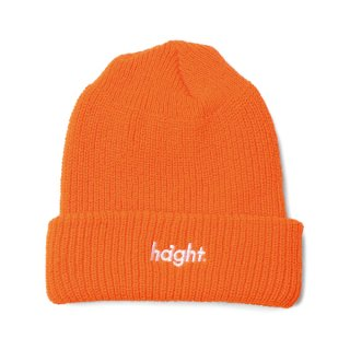 HAIGHT Round Logo Knit Cap Orange